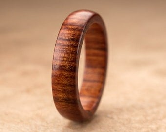 Custom Mopani Wood Ring - 5mm