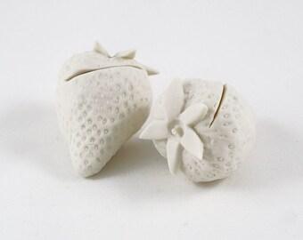 Strawberry Card Holder - White