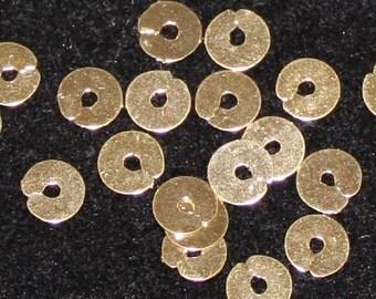 Benton & Johnson Goldwork-Spangles-Gilt metal embroidery supplies-choose size