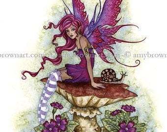 Magenta Fairy 8.5x11 PRINT by Amy Brown