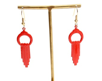 Red Dangle Earrings