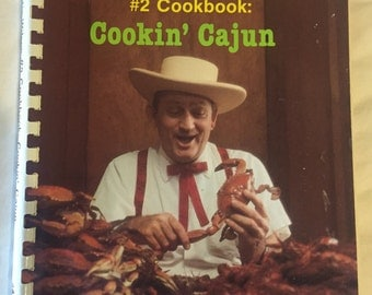 Cookin' Cajun - #2 Cookbook - Justin Wilson - Signed 1st Edition - Creole - Louisiana