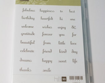 Stampin Up Fabulous Phrases retired stamp set