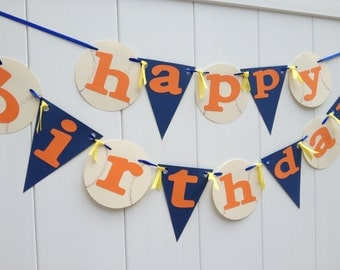 Baseball Party Happy Birthday Baseball Party Banner - Mets