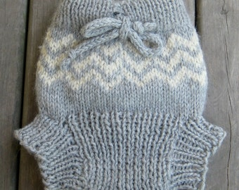 Chevron Hand Knit Diaper Cover - all colours made to order