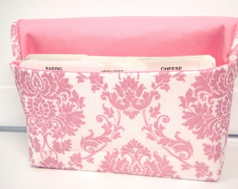 40% OFF Coupon Holder Organizer Cash Budget Organizer - Attaches to your Shopping Cart -  Pink Damask Glitz