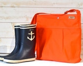 BEST SELLER Diaper bag / Beach Tote Bag STOCKHOLM Orange summer fashion bag