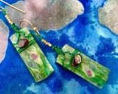 Ruby Fuchsite and Garnet Earrings