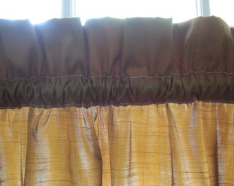 Brown Silk Curtain, Copper Silk Curtain 56 wide x 84 long...a total of 5 are available