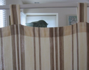 Tab Top Curtain, Multi Striped Cotton Tab Top Curtain....a total of 2 are available