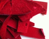 leather scraps - all red