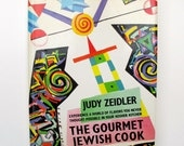 The Gourmet Jewish Cook Judy Zeidler 1988 Hardcover with DJ, Kosher Reference CookBook