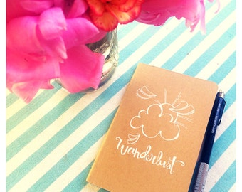 """wanderlust.  a """"SMALL"""" hand illustrated journal"""