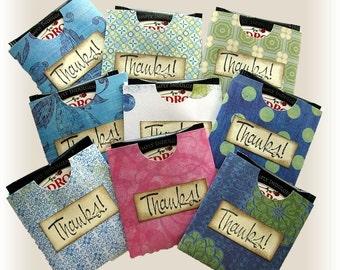 12 Thank You Notes, Card Sets,Tea note envelopes, Wedding thank you notes, Party favors,thank you note cards, tea notecard sets