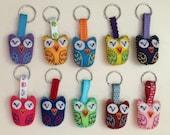 Sweet Owlets Eco Felt Plush Owl Keychain Charm
