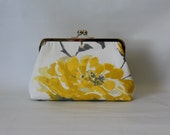 Bridesmaids Clutch - Floral Clutch - Bridesmaids Gifts - Wedding Clutch - Yellow Floral Purse - Petra Clutch