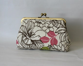 Floral Clutch - Bridesmaids Clutch - Wedding Clutch Purse - Bridesmaid Gifts - Petunia Clutch