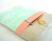 Wood + Arrow iPad Mini Case, iPad Mini 4 Sleeve, Galaxy Tab 4, Galaxy Tab S Sleeve Case