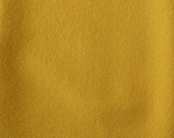Marigold Yellow Hand Felted Wool Fabric - Hand Dyed - - 100% Wool