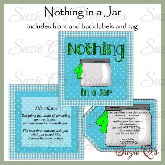 Satisfactory image intended for jar of nothing printable label free