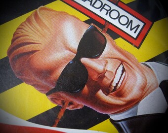 Max Headroom Three Inch Button Shipping Included in the US Clean Vintage Memory of a Short-lived TV Show Button is also an ad for Coke