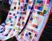 Nine Patch Quilt, Handmade Quilt, Patchwork Quilt