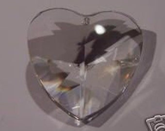 1- Asfour 28mm Heart Clear Crystal Prism Pendant(S-5)