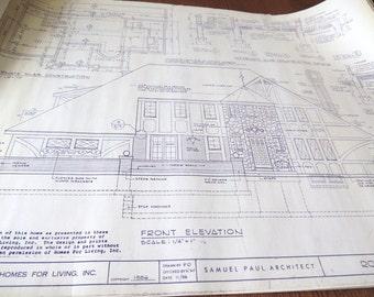 Samuel Paul Architect 5 sets of house plans for Tudor Style Home ROWENA