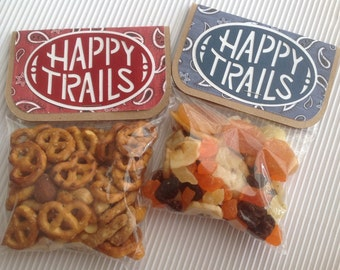 Happy Trails Favor Bags - Set of 8