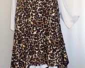 Coco and Juan Plus Size Top Lagenlook Layering Tunic Top Leopard Print  Knit Size 2 Fits 3X,4X  Bust to 60 inches