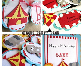 Circus Party Package, Carnival Birthday Party Pack, Circus Birthday Party Decorations, Circus Birthday Party, Carnival Birthday, Circus