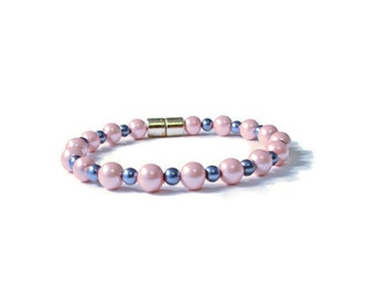 Pink/Blue Magnetic Therapy Bracelet