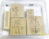 Robot Stamp Set | Stampin' Up! Rubber Stamp Set | Lots of Bots Robot Stamp Set