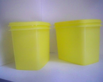 Vintage Kitchen Storage Containers Yellow Tupperware