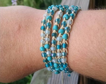 SImple Wrap bracelet adjustable length made to order custom closure colors and length