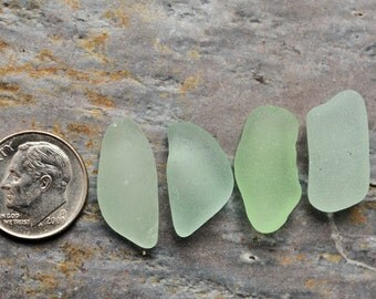 Seafoam Seaglass. Undrilled Jewelry & Craft Supply. 4 Pieces. Lot O1