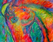 Dream Horse Art 20x16 Expressionist Acrylic Painting by Award Winning Artist Kendall Kessler