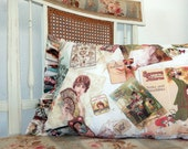 Vintage Images Adds Romance to Shabby Chic and Brocante Pillow