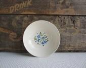 Vintage Mid Century Blue Flower Berry Dessert Bowl by Stetson
