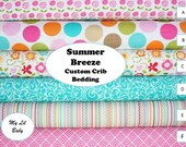 5 Piece Baby Girl Crib Set Riley Blake Summer Breeze Collection Baby Bedding Set Build Your Own Set Choose Your Fabrics