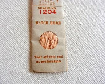 Antique 1904 Silk Embroidery Floss Belding Bros. Royal Floss Silk Gorgeous Peach