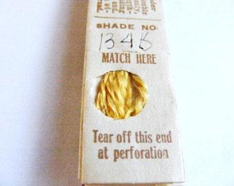 Antique 1904 Silk Embroidery Floss Belding Bros. Royal Floss Silk Golden Yellow