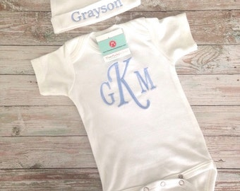 personalized mixed MONOGRAM set, perfect COMING HOME outfit or gift
