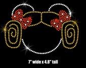 "7"" Star Wars Leia Minnie Mouse iron on rhinestone transfer"