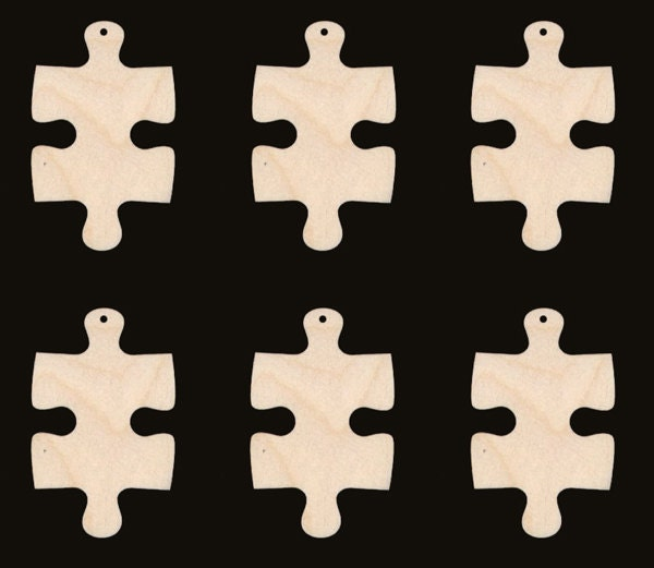 Jigsaw puzzle piece natural craft wood cutout 793 from for Decoration or embellishment crossword