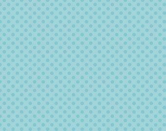 Aqua Tone on Tone Small Dots Fabric by Riley Blake Designs - Half Yard - 1/2 Yard - C420-20