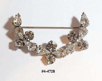 FREE SHIP Brooch Art Deco Exquisite Zircon  (4-4728)