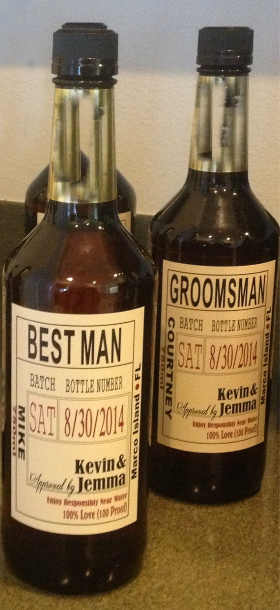 Groomsman proposal custom wedding party and groomsman for Groomsman liquor bottle labels