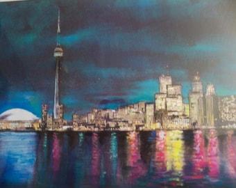 so colorful  skyline  Toronto print
