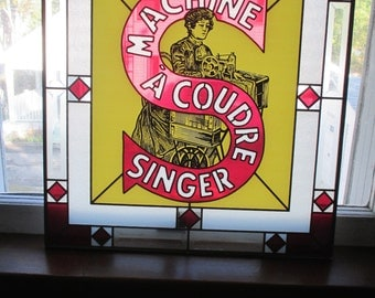 Singer Co. Stained Glass Window